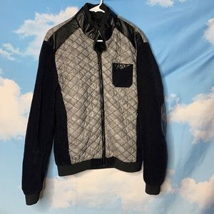 Log- Quilted Gray & Black Jacket size X-Large